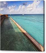Walls And Moat Of  Fort Jefferson Canvas Print