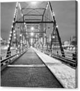 Walnut St. Bridge At Night Canvas Print