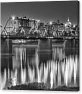 Walnut Street Bridge And Capitol Canvas Print