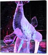 Walrus Ice Art Sculpture - Alaska Canvas Print