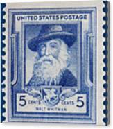 Walt Whitman Postage Stamp Canvas Print