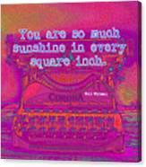 Walt Whitman Quote Typewriter Canvas Print