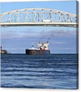 Walter J. Mccarthy And Blue Water Bridge 112917 Canvas Print