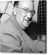 Walter O'malley President Of The Brooklkyn Dodgers. 1955 Canvas Print