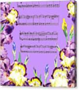 Waltz Of The Flowers Dancing Iris Canvas Print