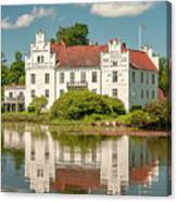 Wanas Castle And Reflection Canvas Print