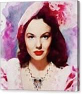 Wanda Hendrix, Vintage Movie Star Canvas Print