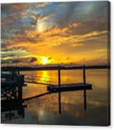 Wando River August Sunset Canvas Print