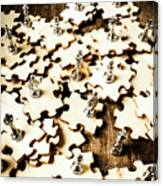 War In A Puzzle Plan Canvas Print