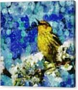Warbler Of Spring Canvas Print