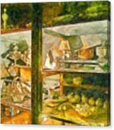 Wardrobe With Ceramic Objects Canvas Print