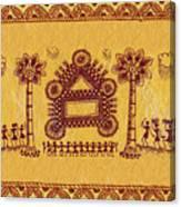 Warli Ceremony Canvas Print