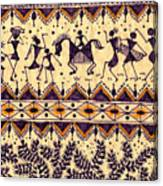 Warli Procession Canvas Print