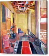 Warm Balcony Canvas Print