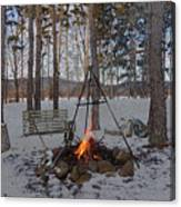 Warm Camp Fire Canvas Print