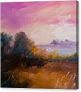 Warm Colorful Landscape Canvas Print