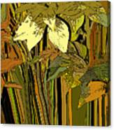 Warm Leaves Canvas Print