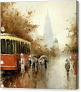 Warm Moscow Autumn Of 1953 Canvas Print
