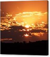 Warm Sunset Canvas Print