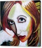 Warped Self Portrait Canvas Print