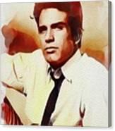 Warren Beatty, Vintage Movie Star Canvas Print