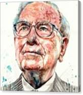 Warren Buffett Portrait Canvas Print