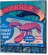 Warrens Lobster House Neon Sign Kittery Maine Canvas Print