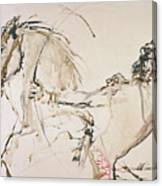 Warrior In Light Brown Canvas Print