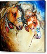 Warrior Spirits Two Canvas Print