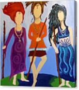 Warrior Woman Sisterhood Canvas Print