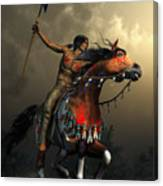 Warriors Of The Plains Canvas Print