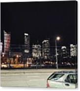 Warsaw At Night Canvas Print