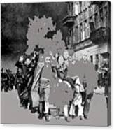 Warsaw Ghetto Uprising Number 1 1943 Color Added 2016 Canvas Print