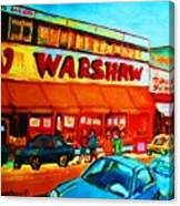 Warshaws Fruitstore On Main Street Canvas Print
