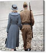 Wartime Couple Canvas Print