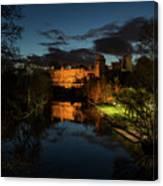 Warwick Castle At Night Canvas Print
