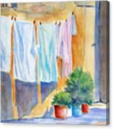 Wash Day In Marsaxlokk Canvas Print