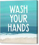 Wash Your Hands- Beach Art By Linda Woods Canvas Print