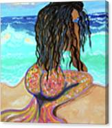 Washed Up - Mermaid Canvas Print