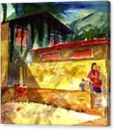 Washer Women Canvas Print