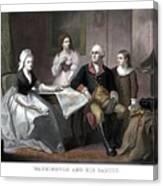 Washington And His Family Canvas Print