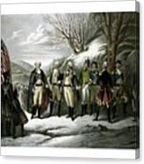 Washington And His Generals  Canvas Print