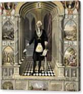 Washington As A Freemason Canvas Print