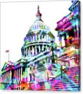 Washington Capitol Color 1 Canvas Print