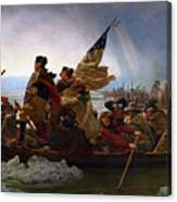 Washington Crossing The Delaware Painting - Emanuel Gottlieb Leutze Canvas Print
