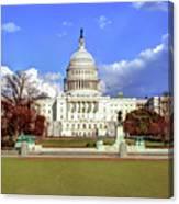 Washington Dc Capitol Building Canvas Print