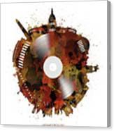 Washington Dc Skyline Vinyl 7 Canvas Print