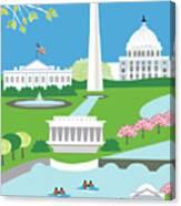 Washington, D.c. Vertical Skyline Canvas Print