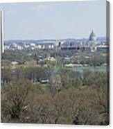 Washington Dc View From Custis Lee House Canvas Print