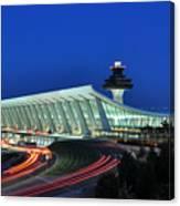Washington Dulles International Airport At Dusk Canvas Print